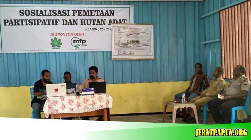 Sosialisasi Pemetaan Partisipatif dan Hutan Adat Wilayah Klasouw Kab.Sorong