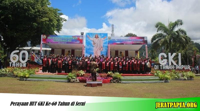 Perayaan Hut Gki Ke 60 Tahun Di Serui Jerat Papua