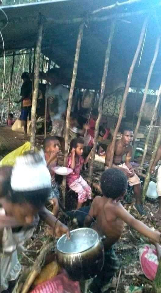 Pengungsi di Aifat Kabupaten Maybrat Papua Barat.